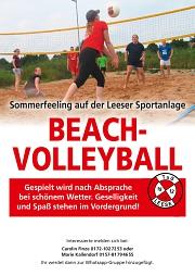 Beachvolleyball Plakat
