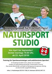 Natursportstudio Plakat 2018