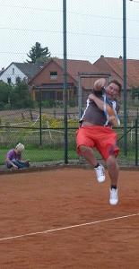 Tennis 2016 - MNT - Frank mit vollem Körpereinsatz