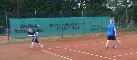 Tennis 2016 - SA - Doppel Petra und Bernd