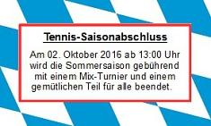 Tennis 2016 - Saisonabschluss 2016©TuS Leese