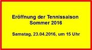 Tennis - Saisoneröffnung 2016