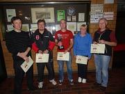 Die Sieger der TT-Vereinsmeisterschaften 2014 TuS Leese