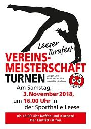 Leeser Turnfest, Vereinsmeisterschaft, Vereinsmeisterschaft 2018. 3. November 2018
